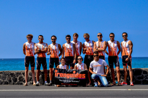 ironguides high performance training has been qualifying athletes every year since 2007 for the Ironman World Championships in Kona. Pic: Team in 2011 with 11 athletes